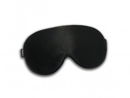 Masha Dark in here - Čierna  Prémiová maska na oči na spanie z hodvábu