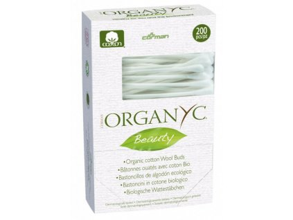 Organyc tyčinky do uší z organické bavlny