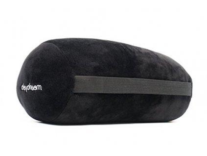 Daydream cestovní polštářek váleček z mikrokuliček černý 2