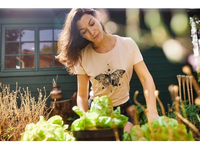 Tričko z bio bavlny s motýlem Earthkarma