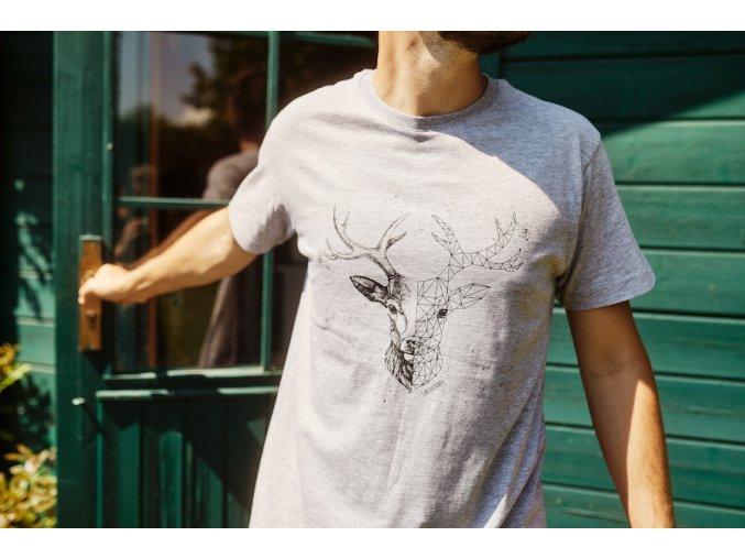 Tričko z bio bavlny s jelenem Earthkarma
