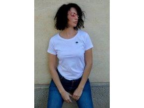 Bílé dámské tričko z bio bavnly a fairwear Earthkarma