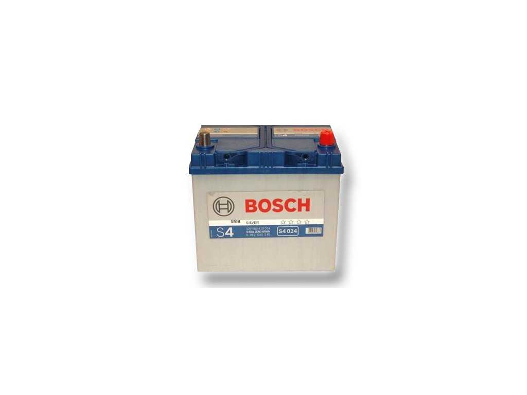Autobaterie BOSCH S4 024, 60Ah, 12V (0 092 S40 240)