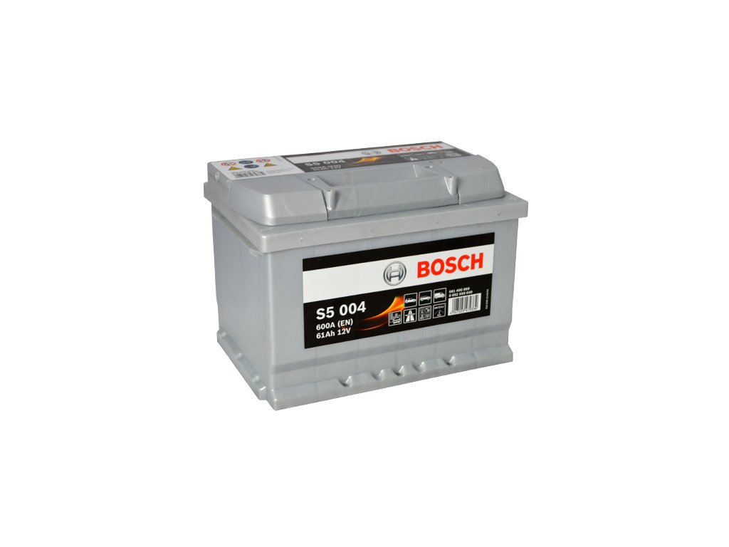 Autobaterie BOSCH S5 004, 61Ah, 12V (0 092 S50 040)