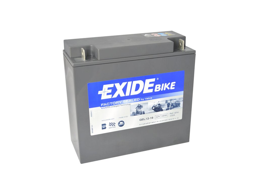 Motobaterie EXIDE BIKE Factory Sealed 16Ah, 12V, GEL12-16