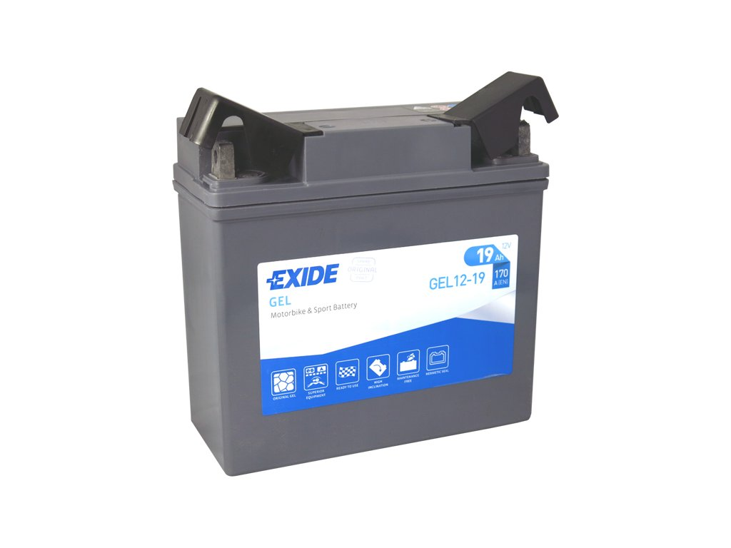 Motobaterie EXIDE BIKE Factory Sealed 19Ah, 12V, GEL12-19 (51913-BMW)