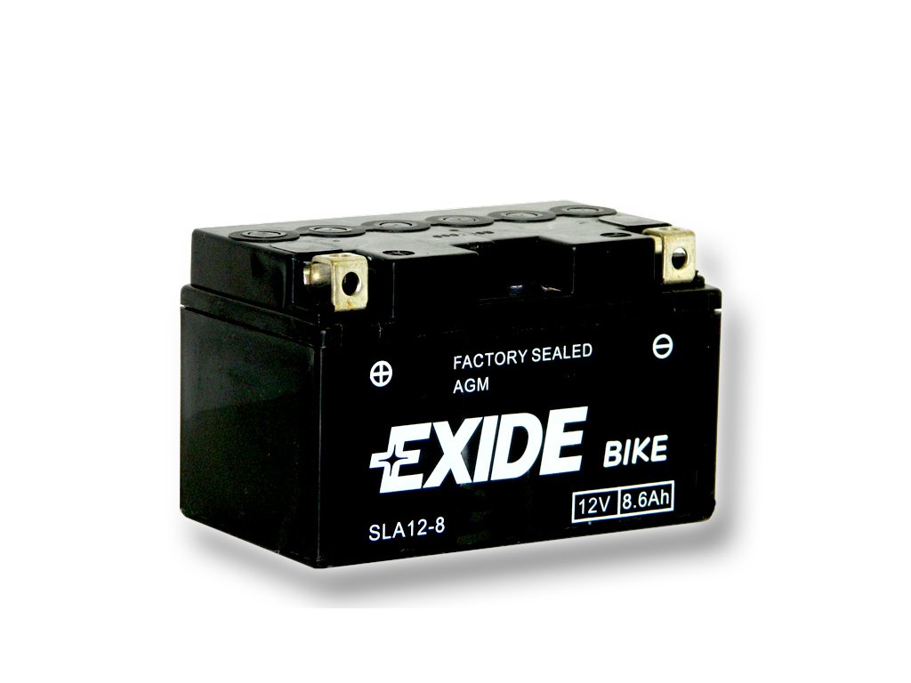 Motobaterie EXIDE BIKE Factory Sealed 8,6Ah, 12V, AGM12-8 (YTZ10-BS)