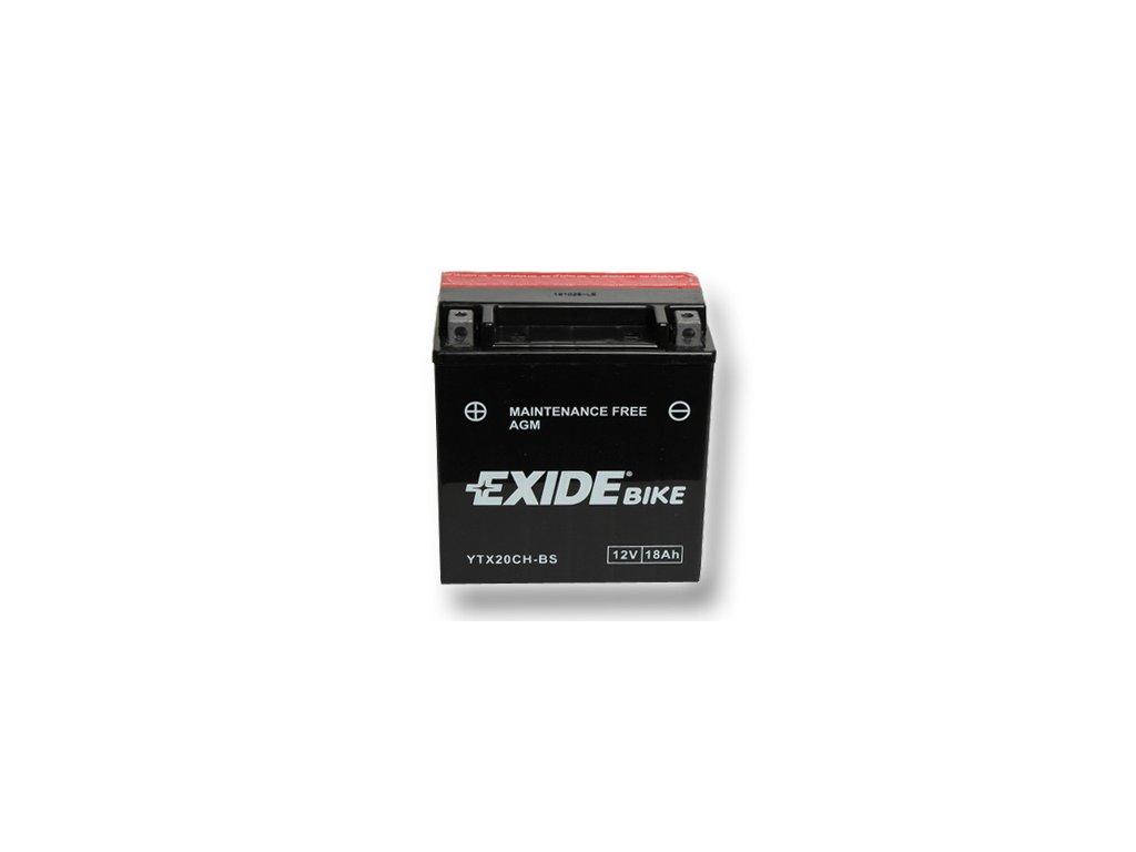 motobaterie Exide ETX20CH-BS, 12V, 18Ah, 230A