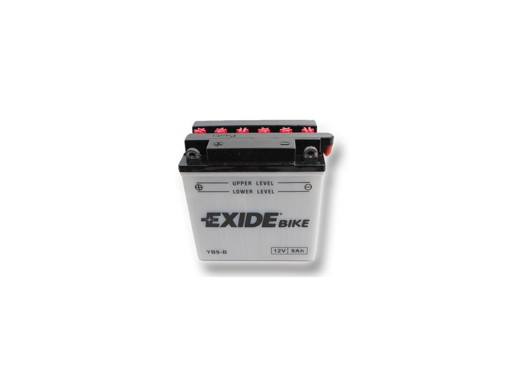 Motobaterie EXIDE BIKE Conventional 9Ah, 12V, YB9-B / 12N9-4B-1