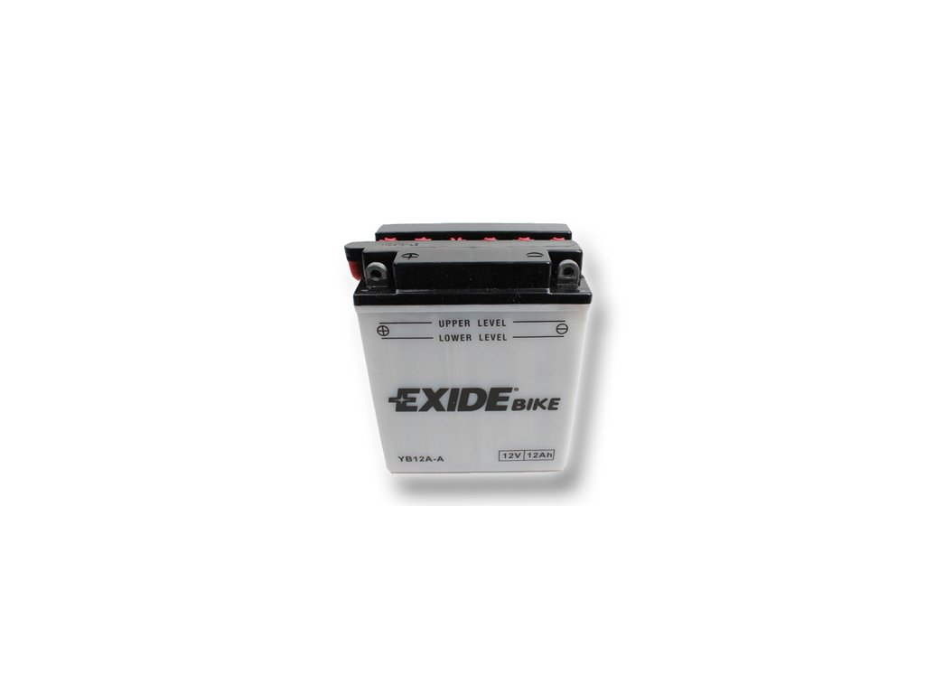 Motobaterie EXIDE BIKE Conventional 12Ah, 12V, YB12A-A / 12N12A-4A-1