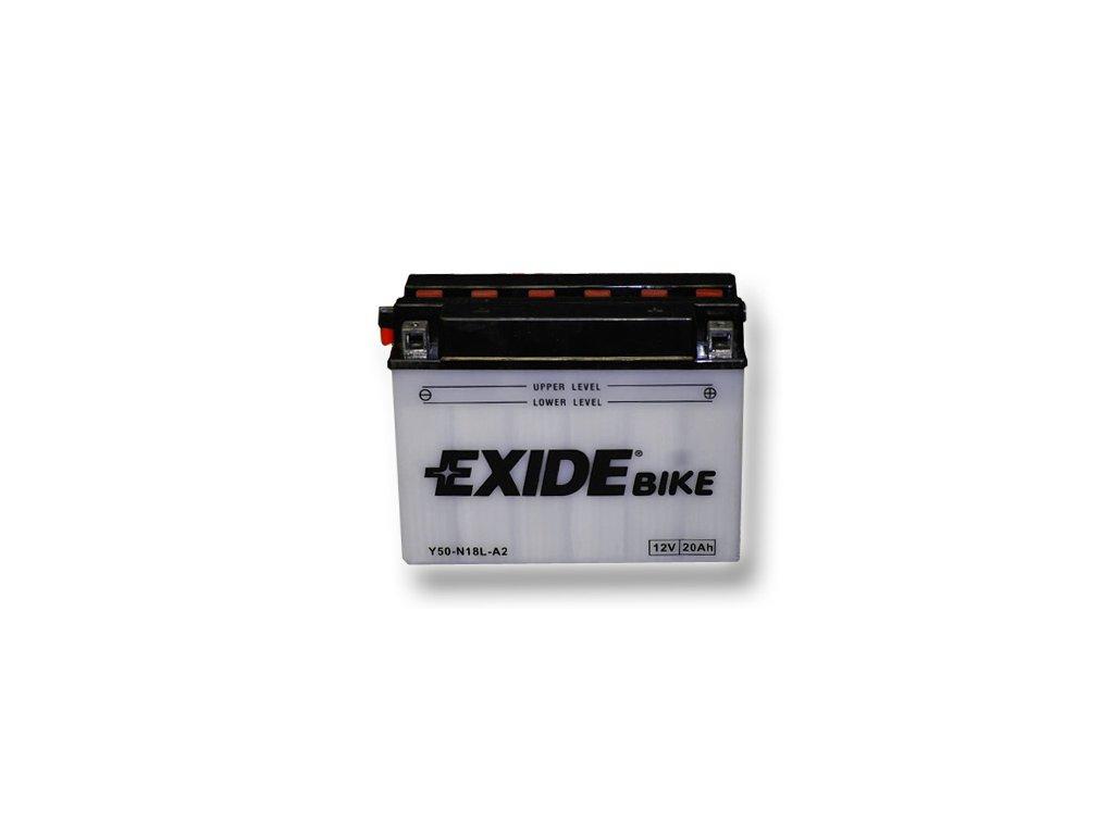 Motobaterie EXIDE BIKE Conventional 20Ah, 12V, Y50-N18L-A