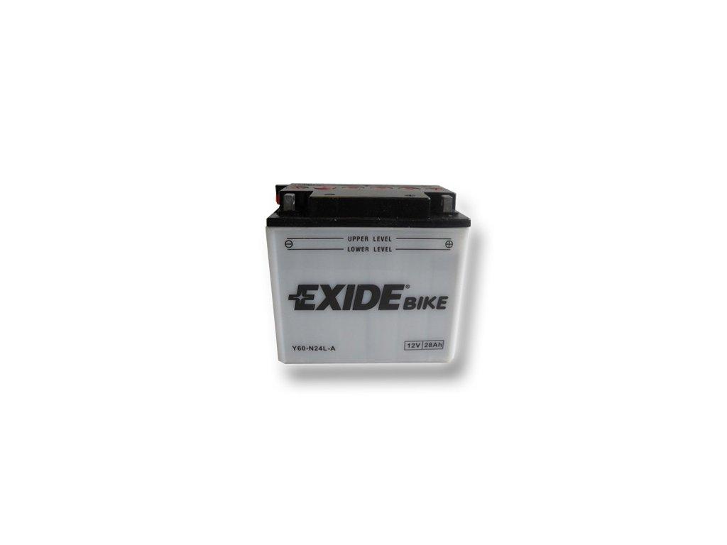 Motobaterie EXIDE BIKE Conventional 28Ah, 12V, Y60-N24L-A