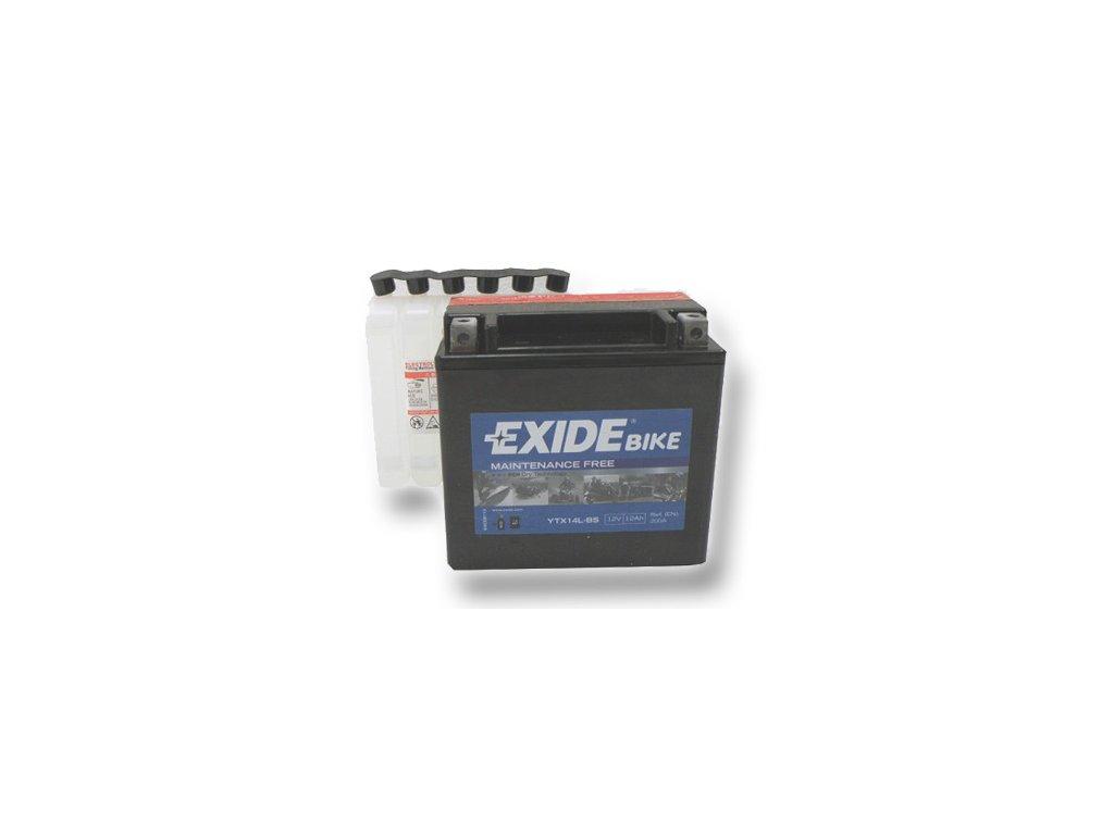 motobaterie Exide ETX14L-BS, 12V, 12Ah