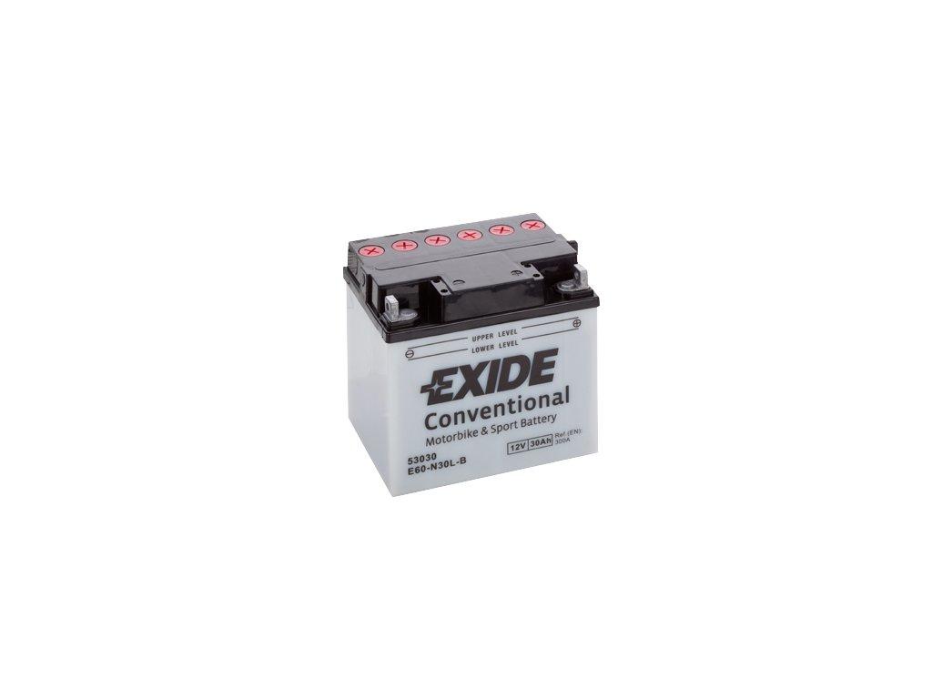 Motobaterie EXIDE BIKE Conventional 30Ah, 12V, Y60-N30L-B