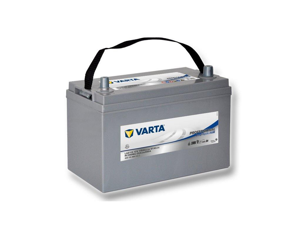 Trakční baterie Varta AGM Professional 830 115 060, 12V - 115Ah, LAD115