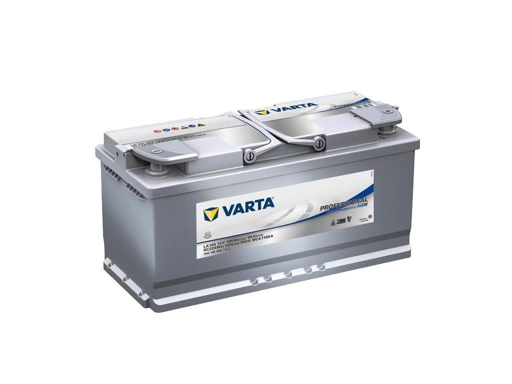 Trakční baterie Varta Professional Dual Purpose AGM 840 105 095, 12V - 105Ah, LA105