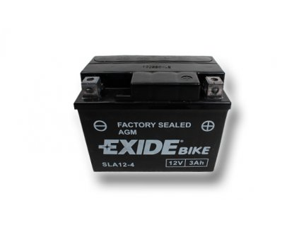 Motobaterie EXIDE BIKE Factory Sealed 3Ah, 12V, AGM12-4  (YTX4L-BS)