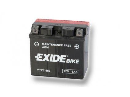 motobaterie Exide ETZ7-BS, 12V, 6Ah, 100A