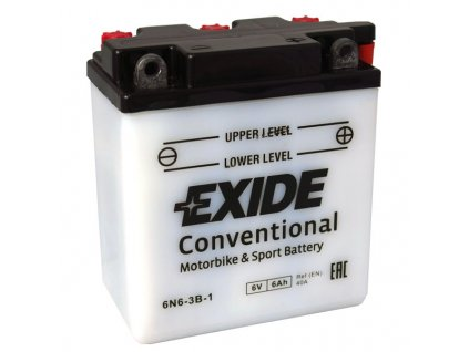 Motobaterie EXIDE BIKE Conventional 6Ah, 6V, 6N6-3B-1