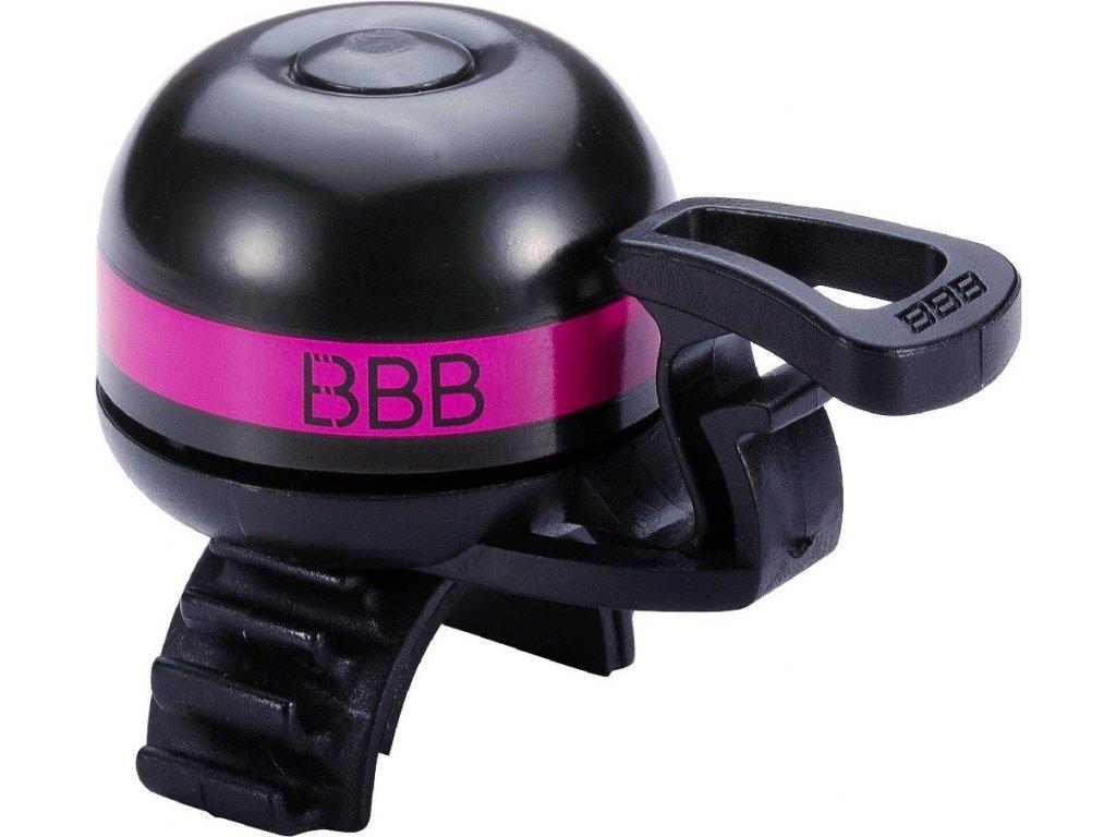 Zvonek BBB BBB 14 EasyFit Deluxe růžový