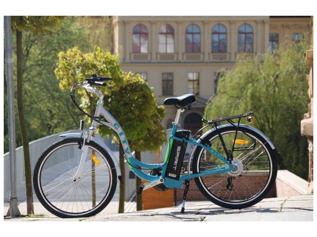 Elektrokolo City modrá zelená