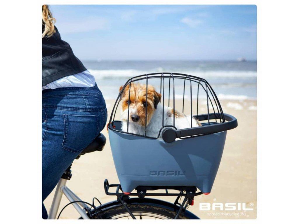 Drátěný kryt na košík na psa na kolo Basil Buddy Dog