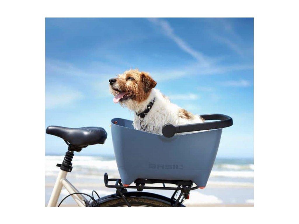 Drátěný kryt na košík na psa na kolo Basil Buddy Dog 2