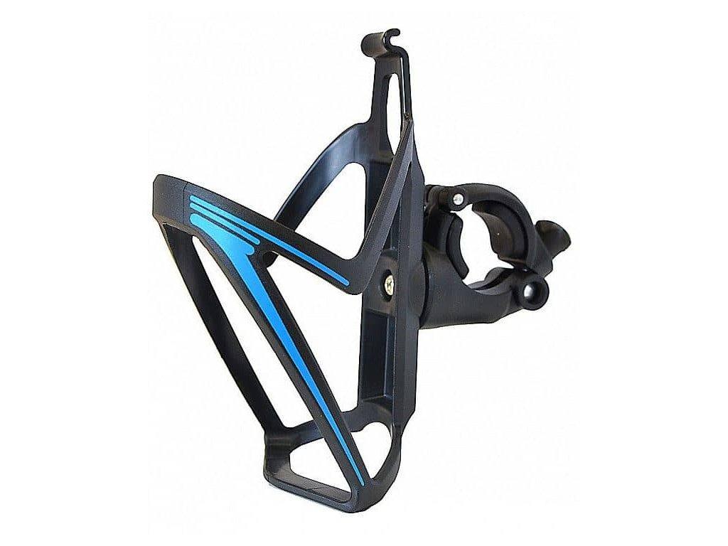 Košík PRO T na pití na řídítka černá modrá
