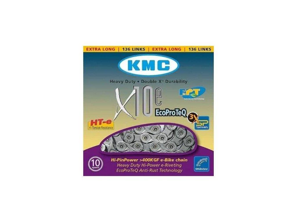 KMC řetěz X10EPT stříbrný BOX 136článků