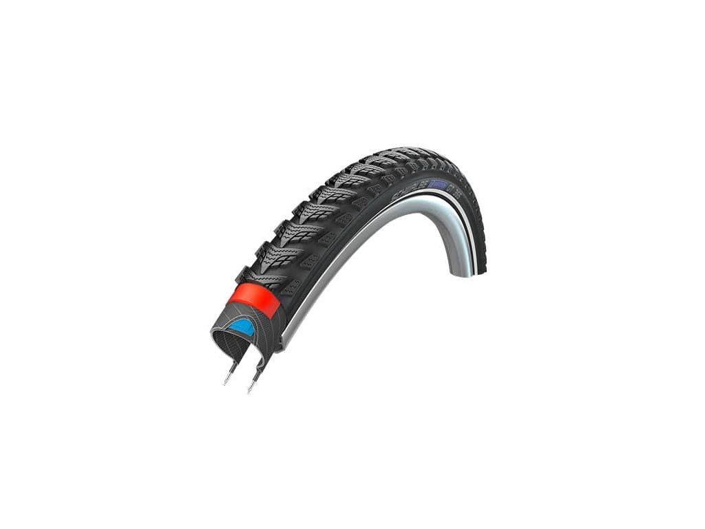 Schwalbe plášť Marathon GT365 40 622 DualGuard černá+reflexní pruh