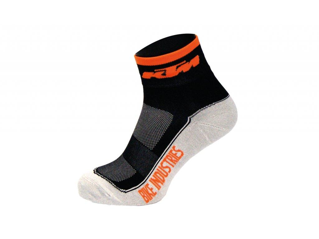 KTM ponožky Factory Line černo šedé