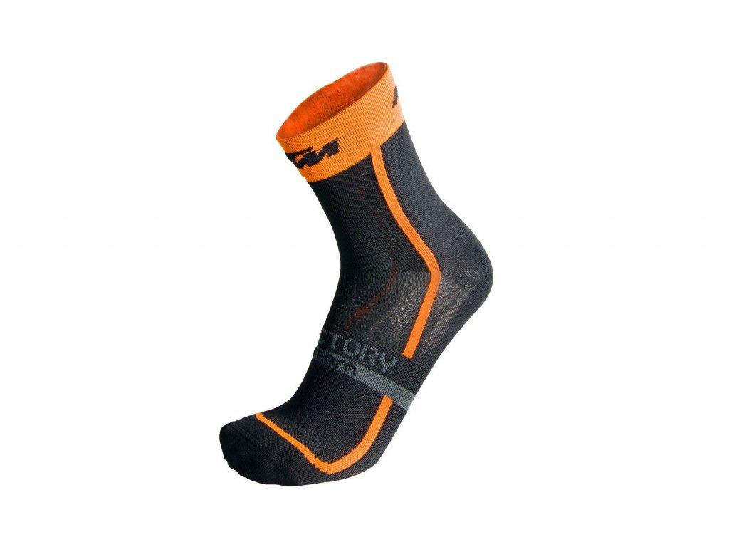 KTM ponožky FactoryTeam černé oranžové 36 39
