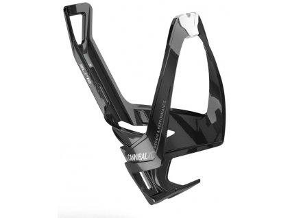 Košík na láhev Elite Cannibal XC - lesklý černo-bílý