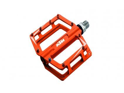Hliníkové pedály KTM oranžové