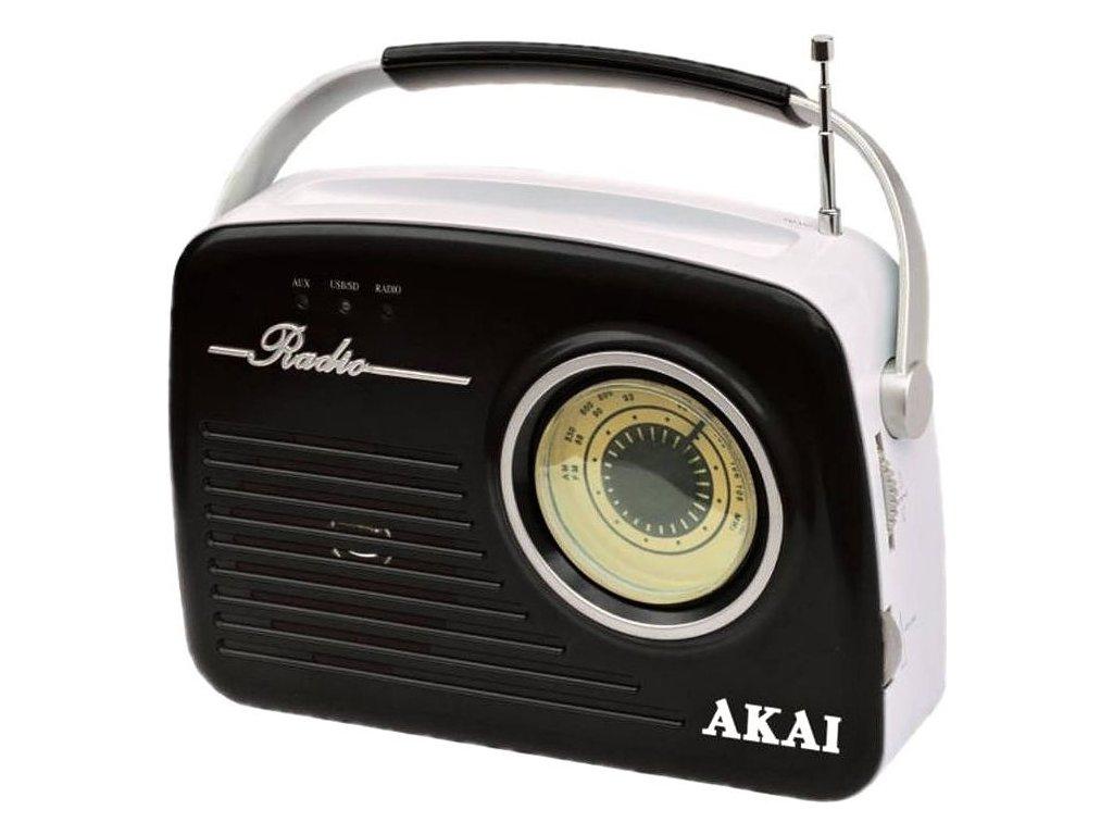 Radiopřijímač AKAI APR-11, černý