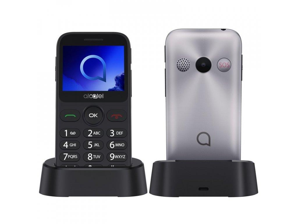 Mobilní telefon ALCATEL 2019G - stříbrný