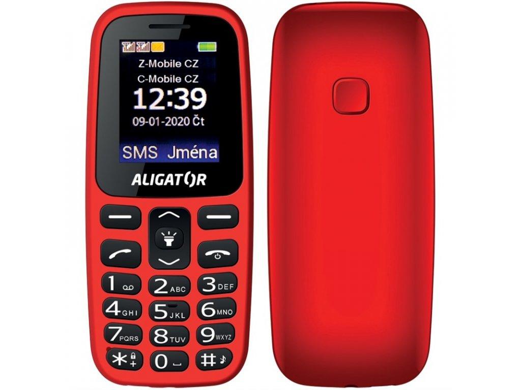 Mobilní telefon Aligator A220 Senior Dual SIM - červený