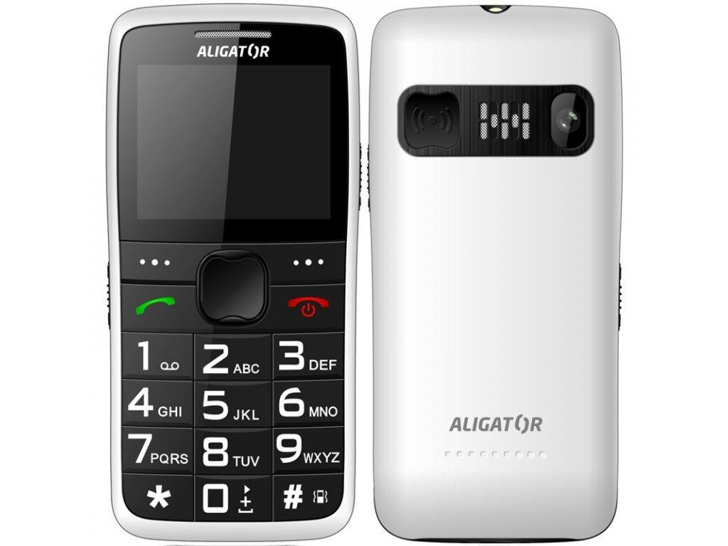 Mobilní telefon Aligator A675 Senior - bílý