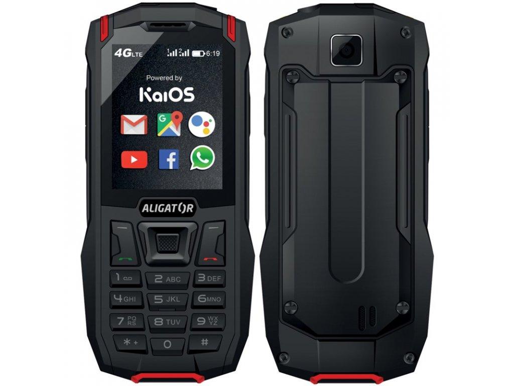 Mobilní telefon Aligator K50 eXtremo - černý/červený