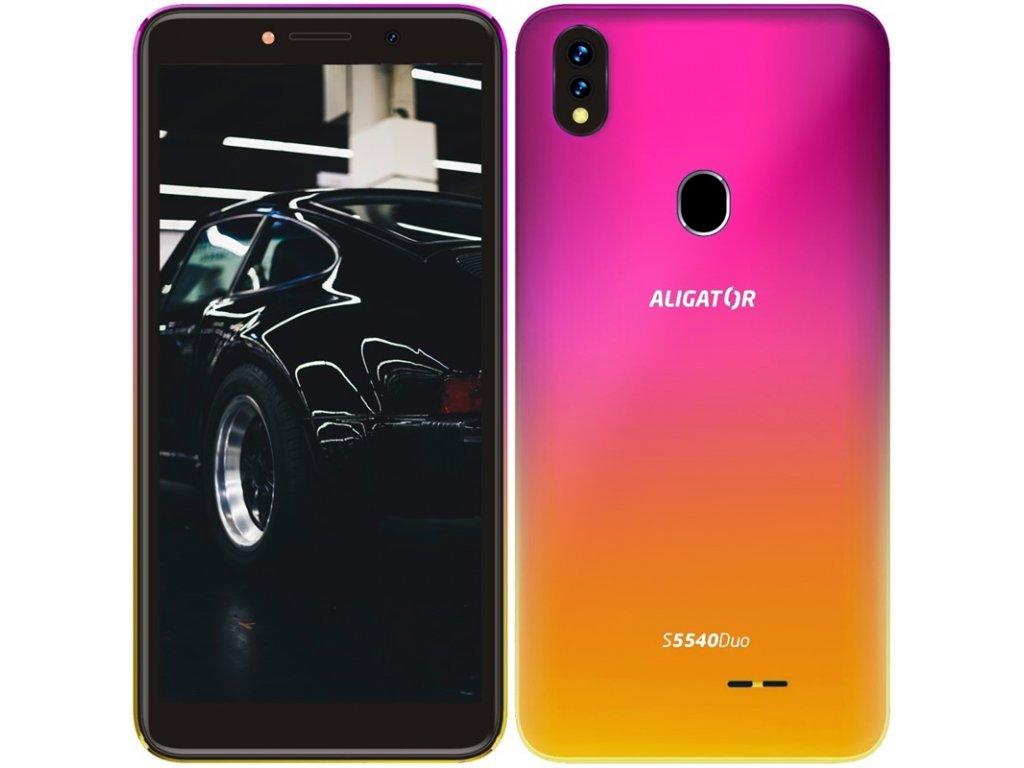 Mobilní telefon Aligator S5540 Dual SIM - růžový/zlatý