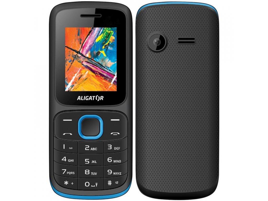 Mobilní telefon Aligator D210 Dual SIM - černý/modrý