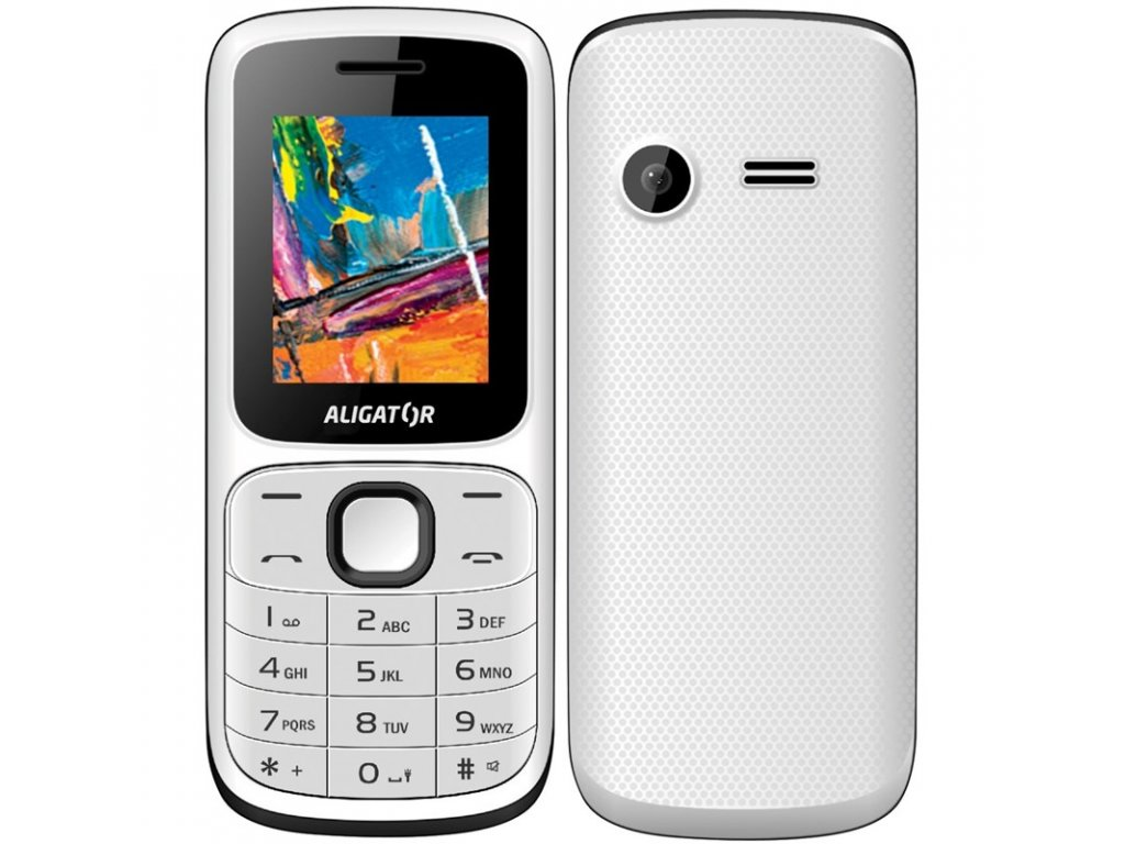 Mobilní telefon Aligator D210 Dual SIM - černý/bílý