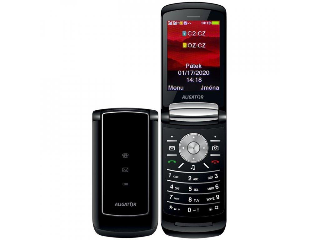 Mobilní telefon Aligator DV800 Dual SIM - černý