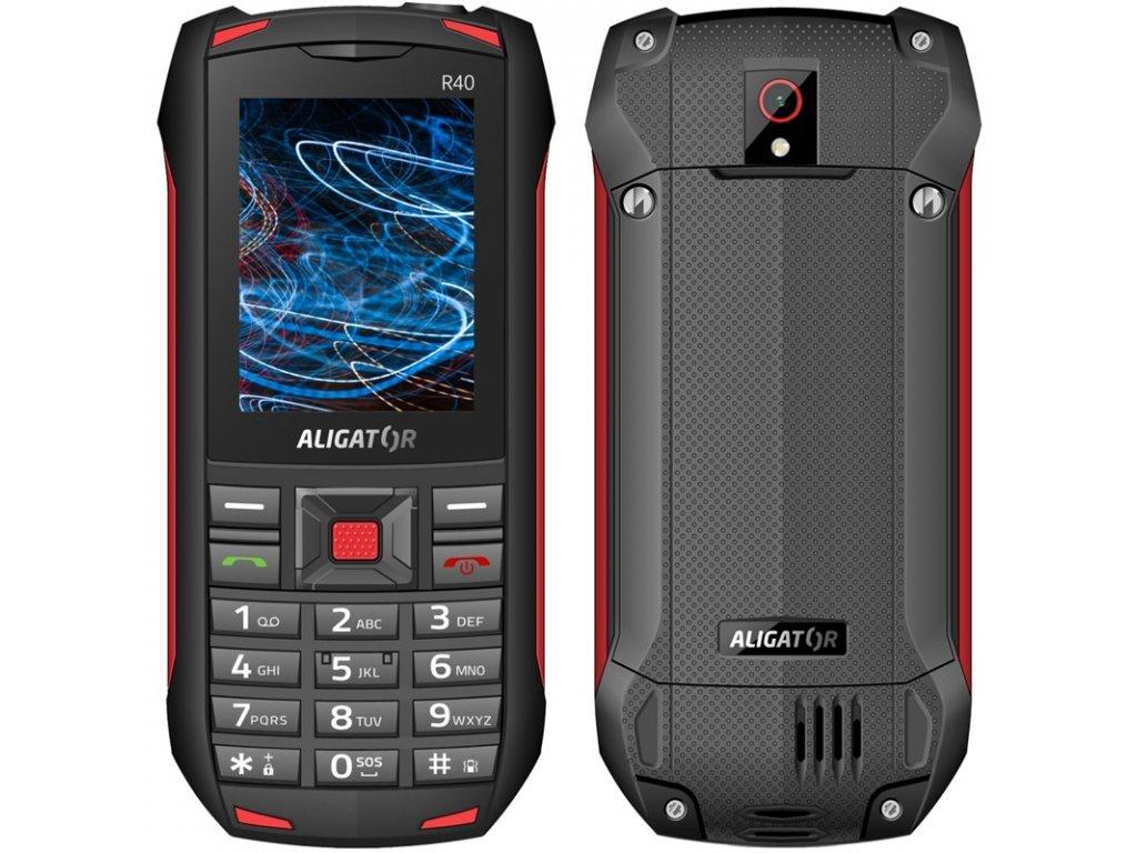 Mobilní telefon Aligator R40 eXtremo - černý/červený