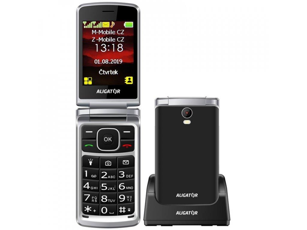 Mobilní telefon Aligator V710 Senior Dual SIM - černý