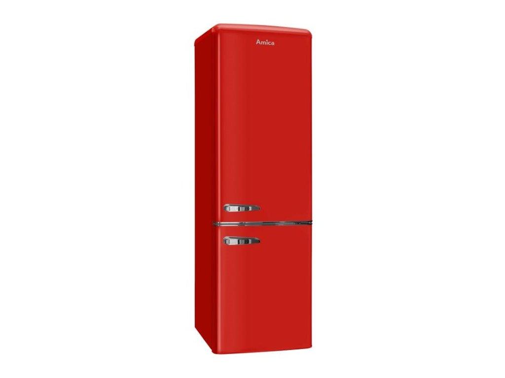 Chladnička komb. Amica KGCR 387100 R, Retro