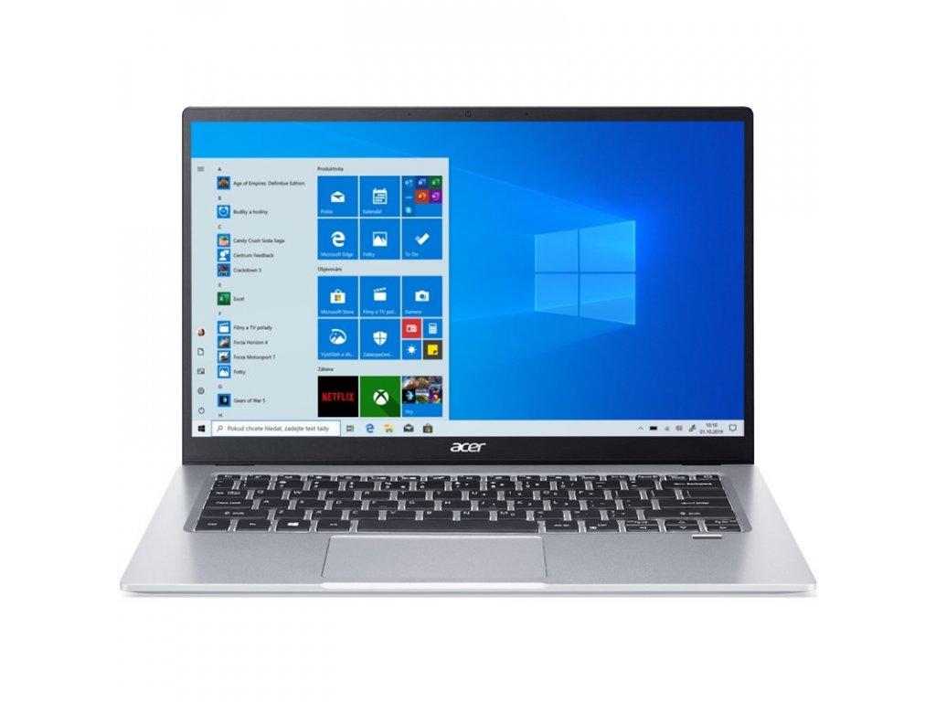 Ntb Acer Swift 1 (SF114-34-P64B) Pentium Silver N6000, 256GB, Full HD, bez mechaniky, Intel UHD Graphics 615, BT, CAM, W10 Home - stříbrný