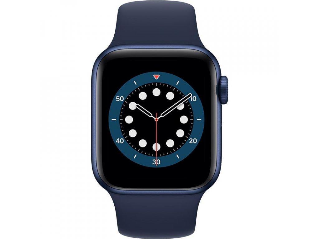 Chytré hodinky Apple Watch Series 6 GPS 44mm pouzdro z modrého hliníku - námořnicky tmavomodrý sportovní náramek