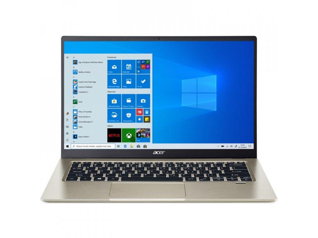 "Ntb Acer Swift 1 (SF114-34-P5M8) Pentium Silver N6000, 14"", Full HD, RAM 8GB, SSD 256GB, bez mechaniky, Intel UHD Graphics 615, W10 Home - zlatý"