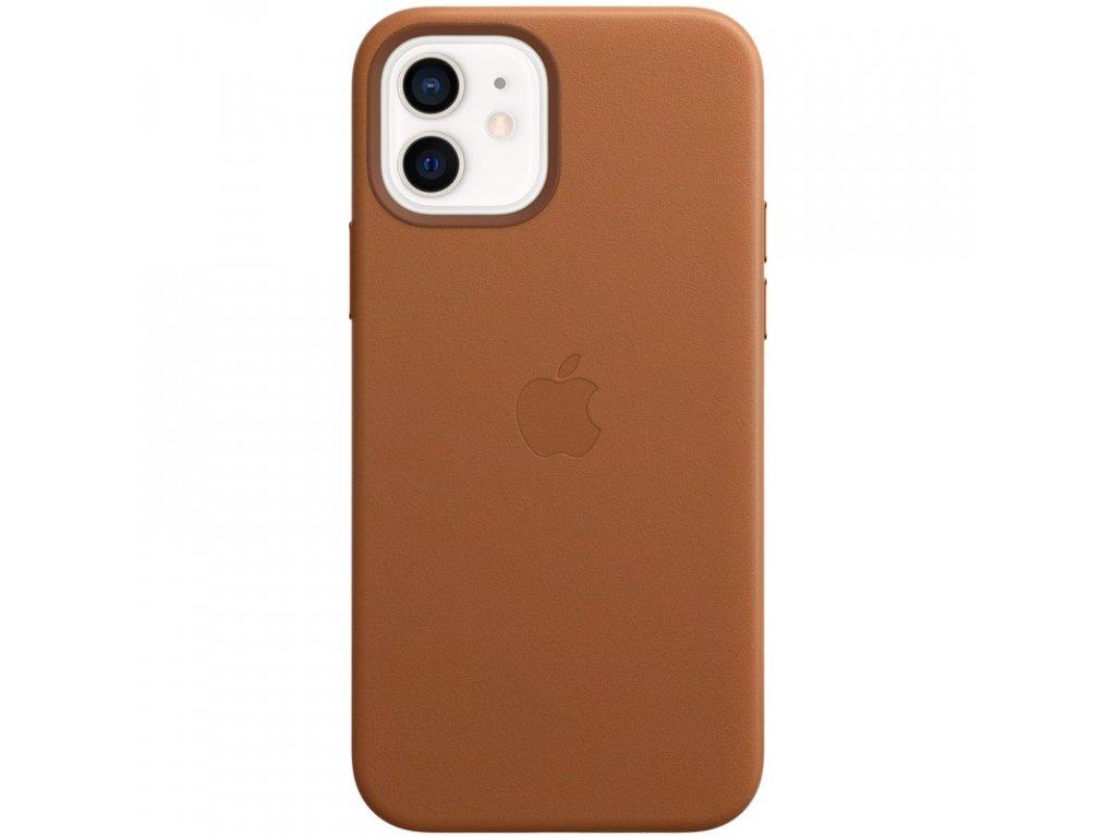 Kryt na mobil Apple Leather Case s MagSafe pro iPhone 12 mini - sedlově hnědý
